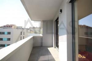 balkon Pronájem zařízeného bytu 2+kk, 59 m2 Praha 7 - Holešovice, Dělnická