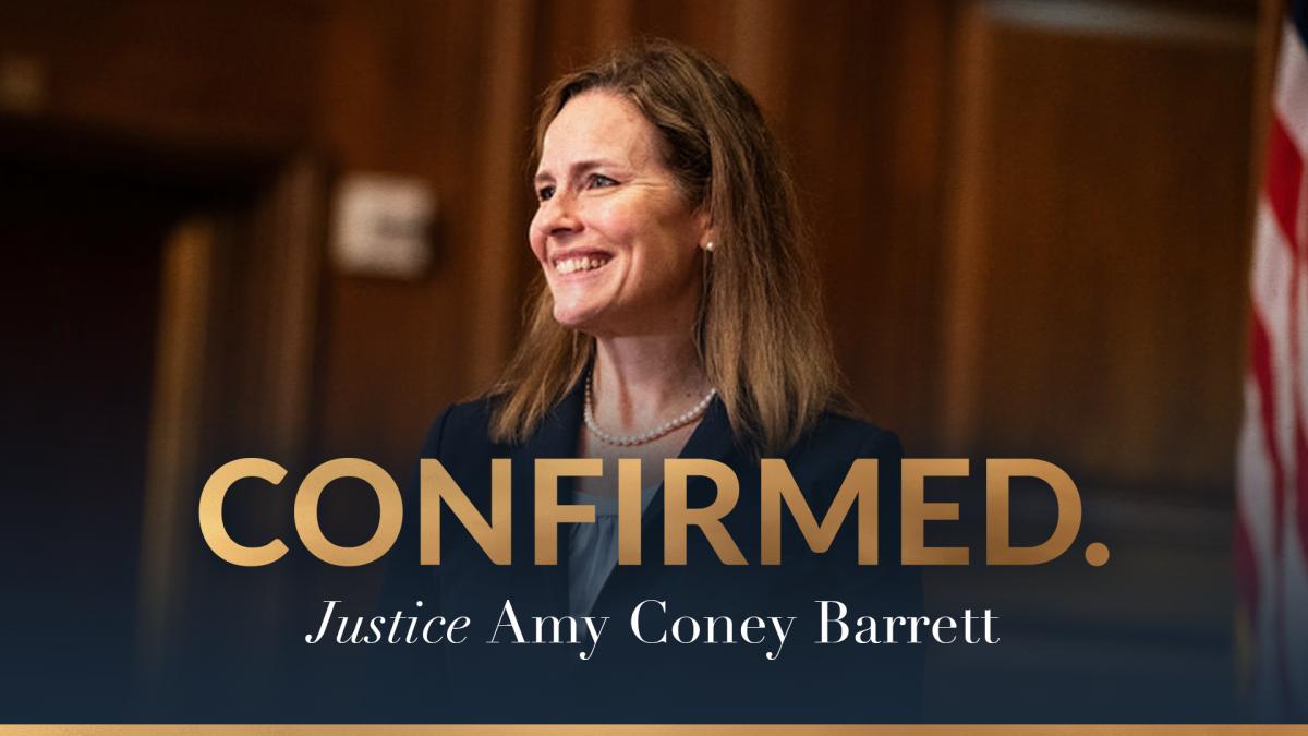 Walbergův kladný výrok potvrdil soudkyni Amy Coney Barrett