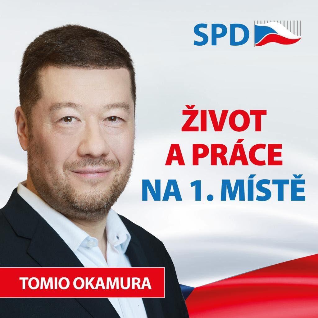Tomio Okamura hnutí Svoboda a přímá demokracie (SPD)